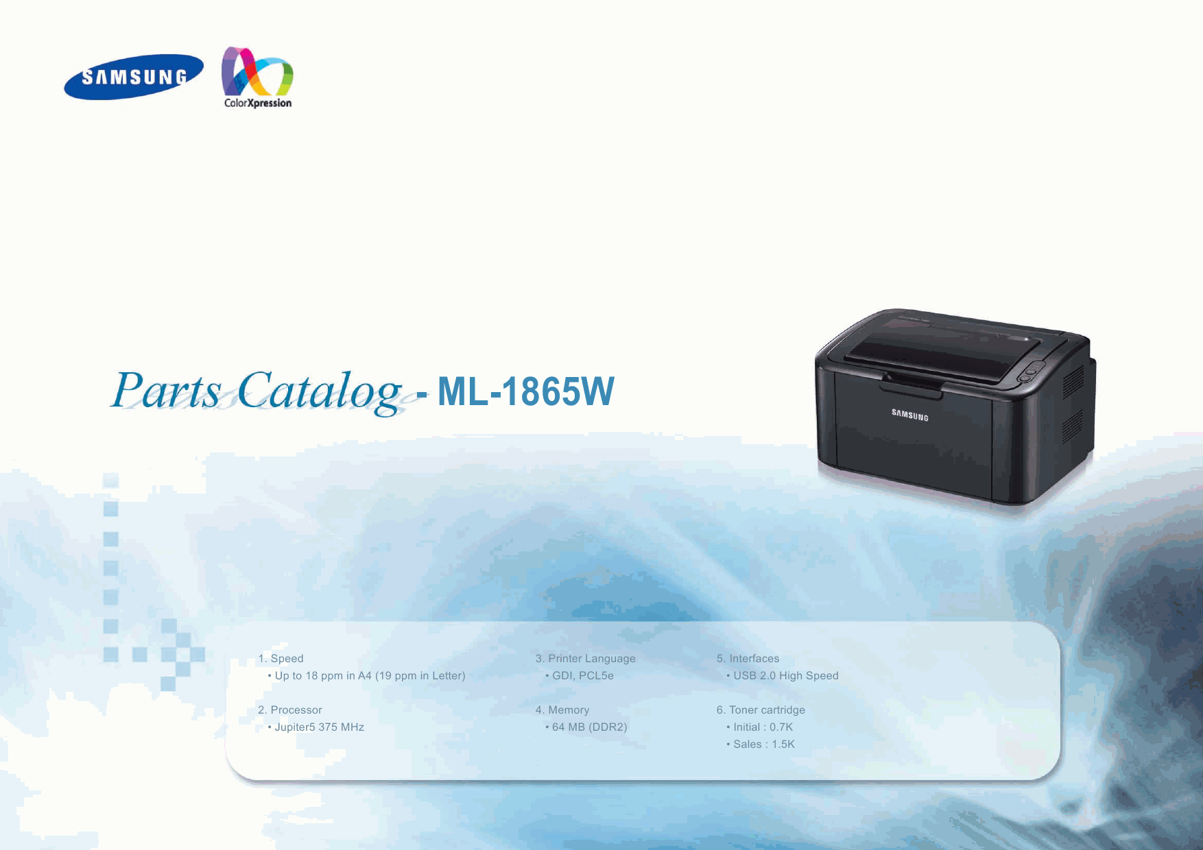 Samsung Laser-Printer ML-1865W Parts Manual-1